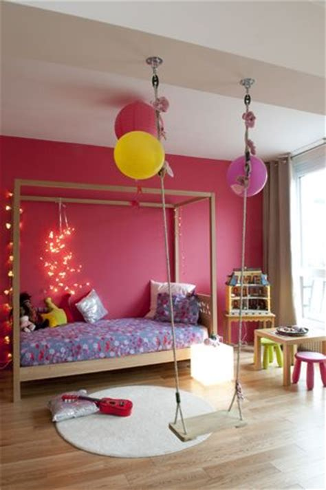 swing in bedroom swing in girl s colourful bedroom kool kid indoor spaces