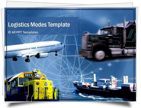 templates for logistics presentation powerpoint logistics template sets