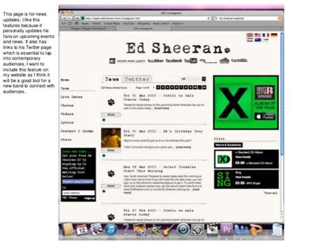 ed sheeran website ed sheeran website analysis