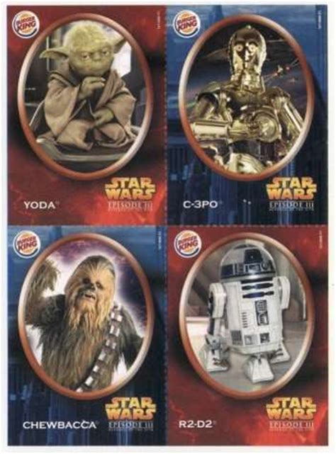 Burger King Gift Card Uk - star wars revenge of the sith mexican burger king cards