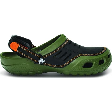 crocs sport shoes crocs yukon sport army green black s leather topped