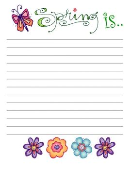 printable writing paper for spring cute easter spring writing paper spring school ideas