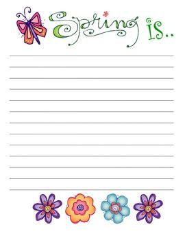 printable writing paper spring cute easter spring writing paper spring school ideas