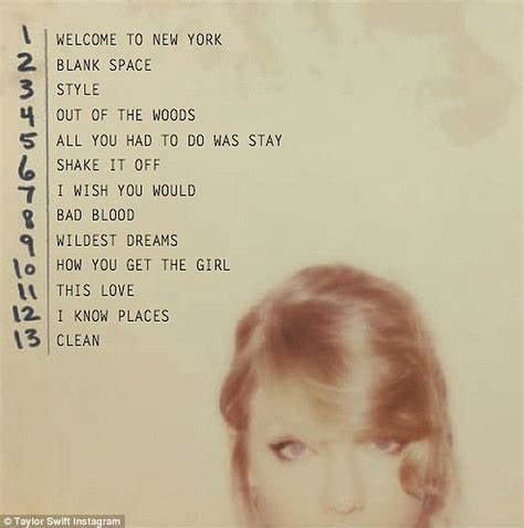 taylor swift albums online taylor swift releases tracklist for 1989 album daily
