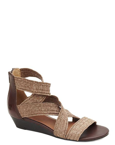 lucky brand sandals lucky brand netta wedge sandals in beige lavendar lyst