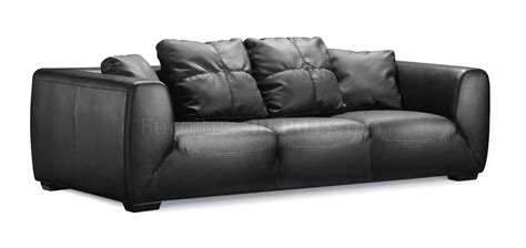 Black Sofa Cushions by Black Leather Contemporary Sofa With Oversized Cushions