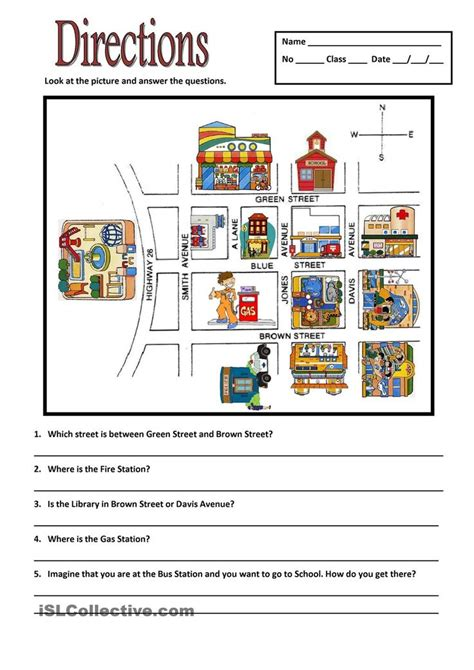 giving directions printable sheets 15 best asking and giving directions images on pinterest