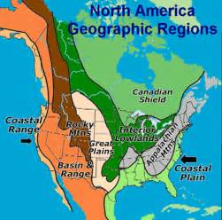 regional map of us and canada major sub regions u s and canada culture region