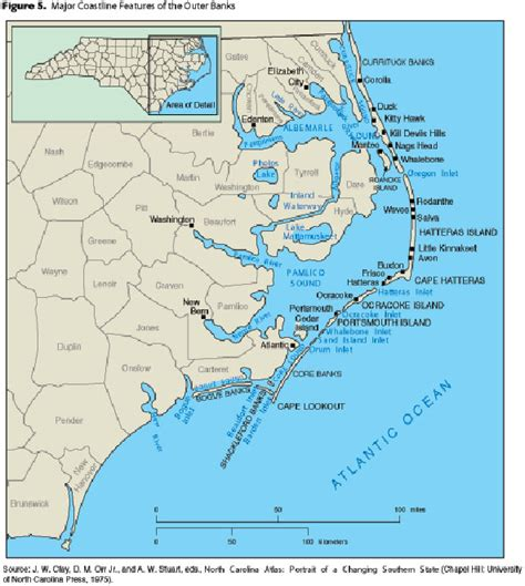 coastal carolina map map of carolina coast of beaches rivers and lakes