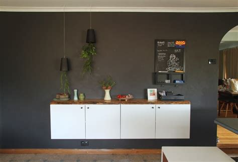 Floating Cabinets Ikea | diy floating buffet using ikea metod cabinet shelterness