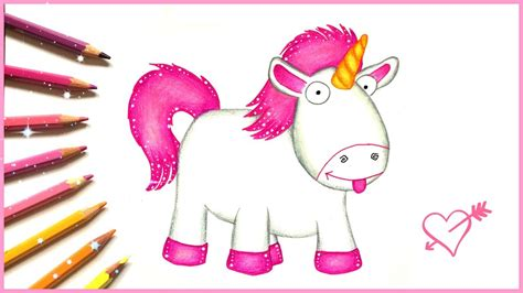 fluffy unicorn despicable me drawing www imgkid