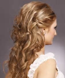 hairstyles ears curly in back half up curly formal hairstyle light brunette