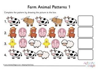 animal pattern worksheets for kindergarten pattern worksheets