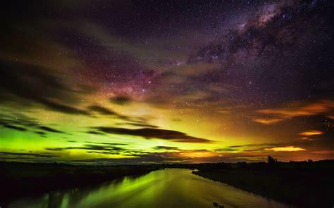 The Southern Lights In New Zealand Widescreen Wallpaper Lights Nz