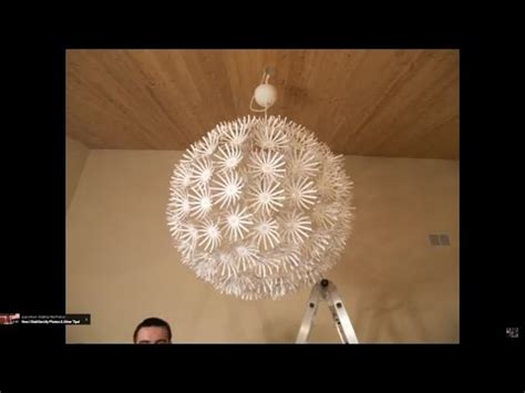 How To Make A Lamp Shade Chandelier Ikea Snowflake Maskros Lamp Stop Motion Assembly Youtube
