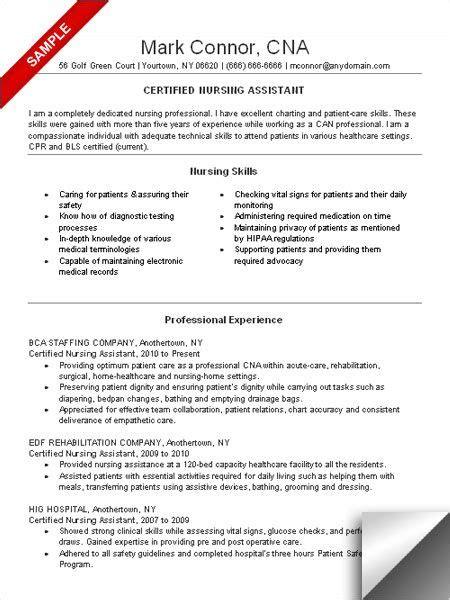 cna resume sle resume exles