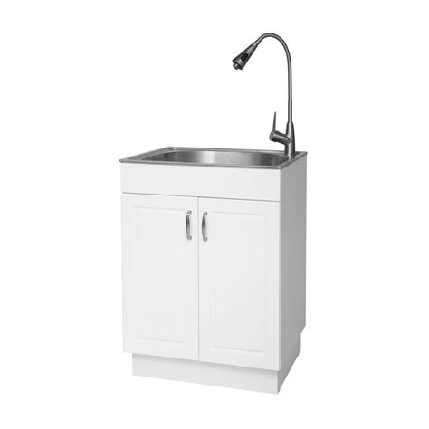 Laundry Room Utility Sink With Cabinet Glacier Bay All In One 24 2 In X 21 3 In X 33 8 In