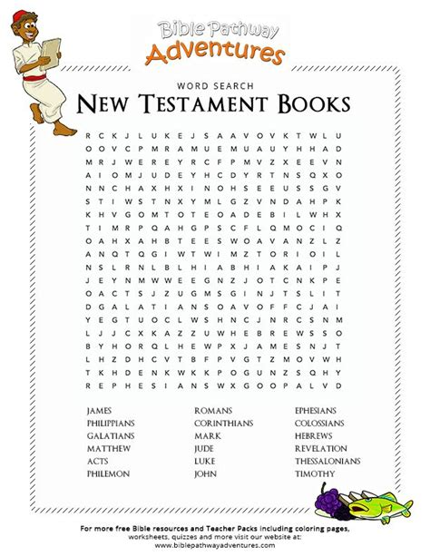 testament books enjoy our free bible word search new testament books