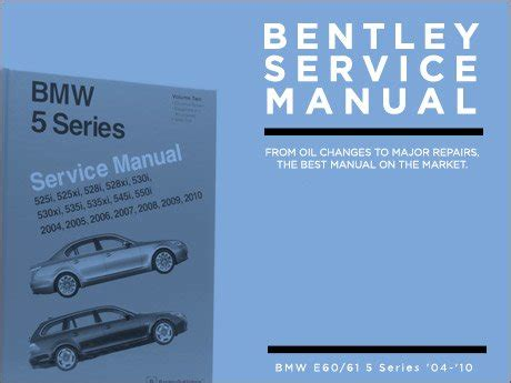 best auto repair manual 2006 bmw 550 on board diagnostic system ecs news bentley service manuals for your bmw e60 5 series
