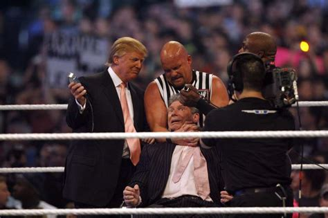 trumpmania vince mcmahon and the of america s 45th president books throwback to president at wrestlemania 23