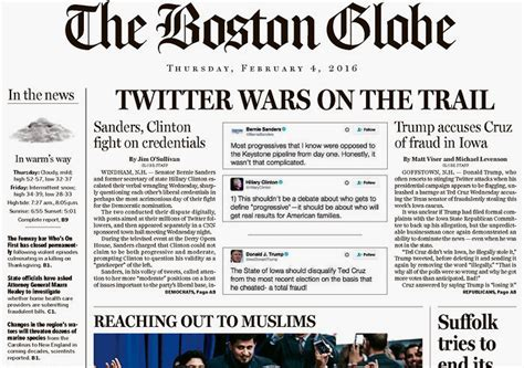the latest boston news bostoncom twitter beefs are now front page news in the boston globe