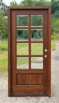 Single Outside Door Exterior Single Mahogany Doors