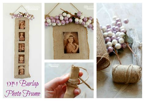 how to build an a frame diy mother earth news diy burlap photo frame living well mom