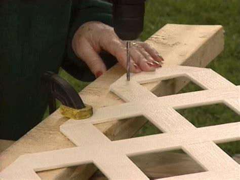 build  lattice wall beneath  deck  tos diy