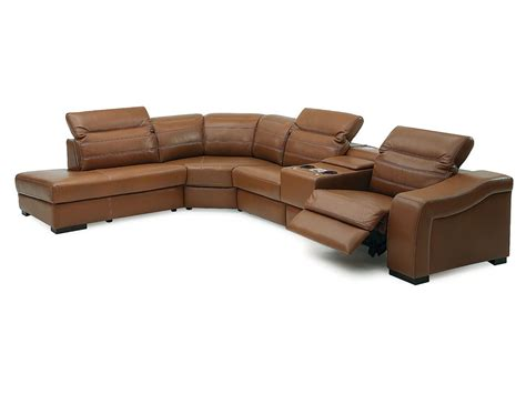 leather sectional sofas palliser infineon leather reclining sectional collier s