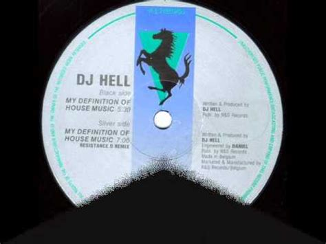 my definition of house music dj hell my definition of house music resistance d remix