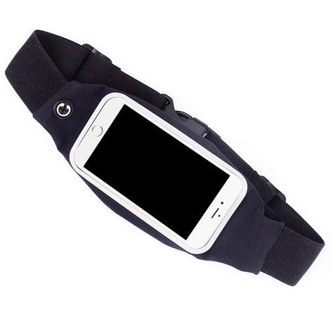 Sweatproof Sport Waist Belt Bag Pouch For Running Ukuran L Ter waist sport running pouch pack bag sweatproof mobile phone