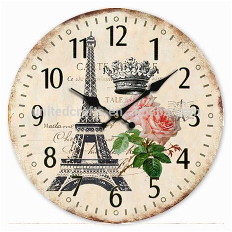 Jam Dinding Standard White 2015 handmade wooden craft clock wood wall clock
