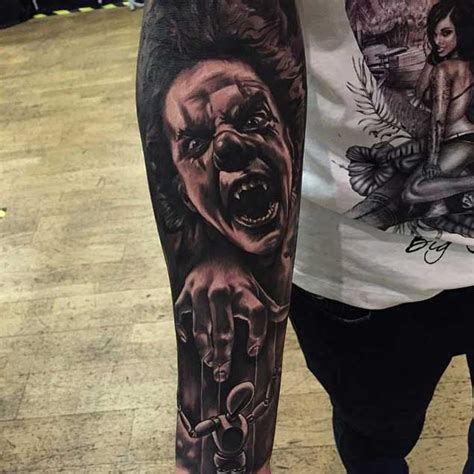 20 Horrifying Clown Tattoos That Will Haunt Your Dreams Tattoos Of Evil Clowns
