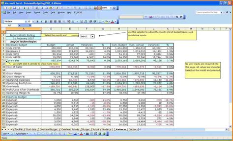 Templates For Business Budget In Excel | excel business budget template authorization letter pdf