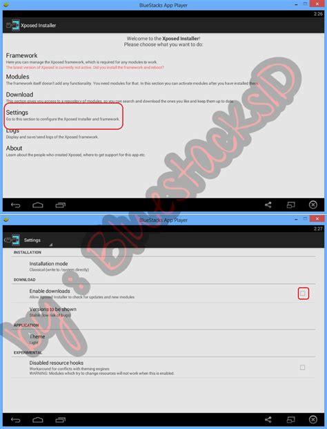 bluestacks xposed framework cara install xposed di bluestacks bluestacksid