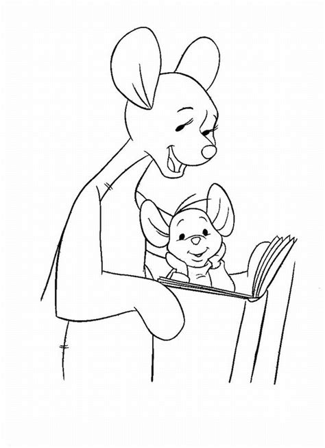 kanga and roo coloring pages coloring home
