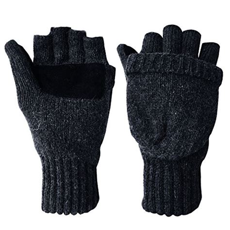 knitting patterns for fingerless gloves with mitten cover review winter warm wool knitted convertible