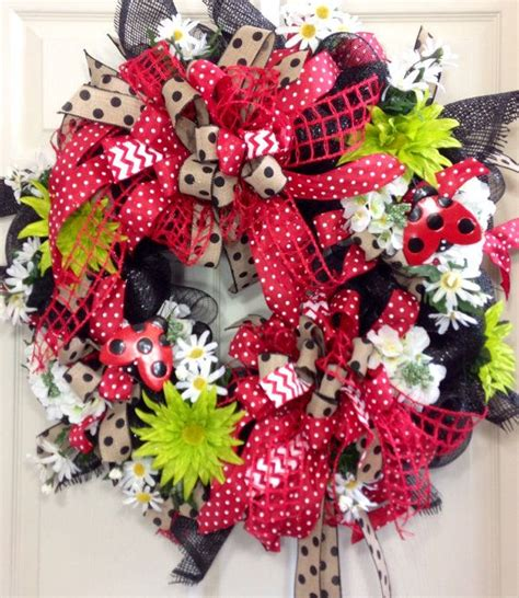 1110 best spring and summer wreaths images on pinterest spring 130 best lady bugs images on pinterest bow wreath