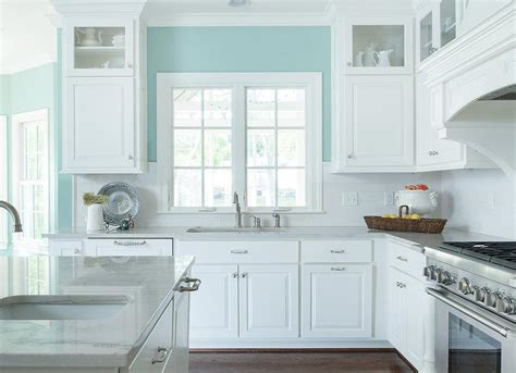 kitchen feature wall paint ideas white and turquoise kitchen features walls painted
