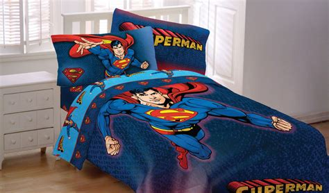 superhero bedding sets 4pc superman full bed sheet set blue dc comics superhero bedding sheets decor ebay