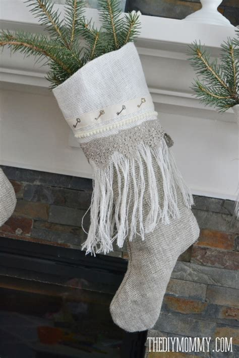 pattern for burlap christmas stockings sew linen burlap christmas stockings anthropologie