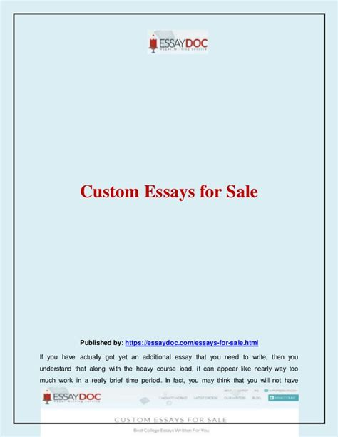 Custome Essay by Custom Essays For Sale