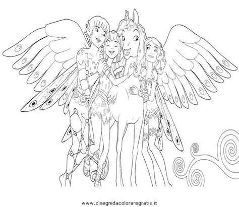 free mia and me onchao coloring pages