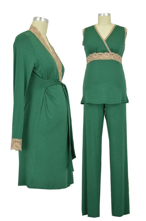 Jepitan Baju Jb1 Set Of 20 Pcs baju 3 pc modal lace sleeveless nursing pj robe set in green lace