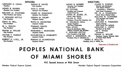 peoples national bank 1960 ad for peoples national bank of miami shores photo