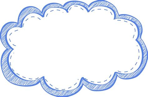frame clip clouds clipart frame pencil and in color clouds clipart