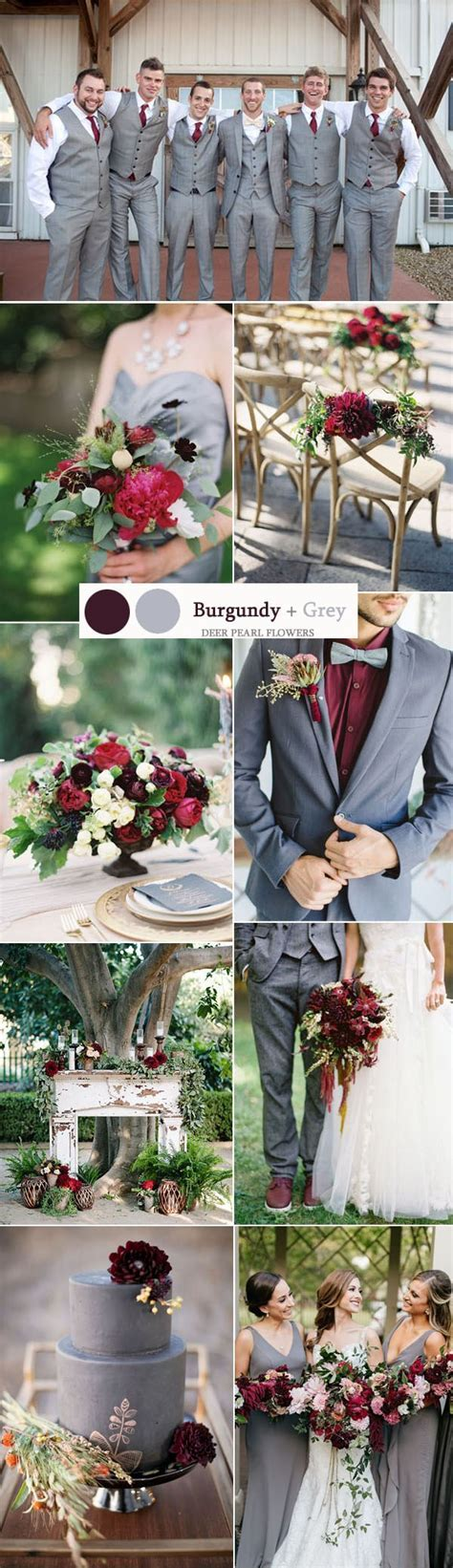 Top 8 Burgundy Wedding Color Palettes You'll Love   Deer