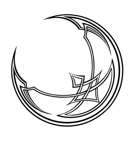 celtic moon tattoo designs crescent moon clipart best