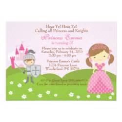 princess and invitations announcements zazzle