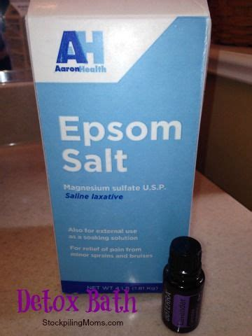Does Epsom Salt Detox Work by Detox Bath Great For Weight Loss Getting Healthy